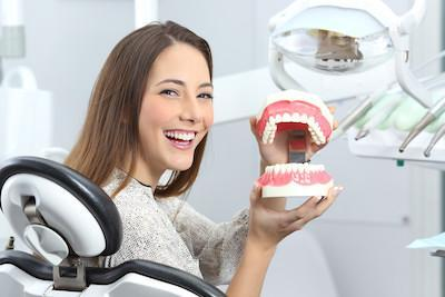 woman smiling with tooth colored fillings in madera ca
