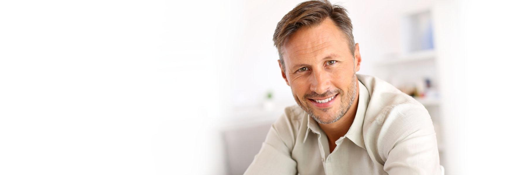 adult man smiling | madera ca dentist